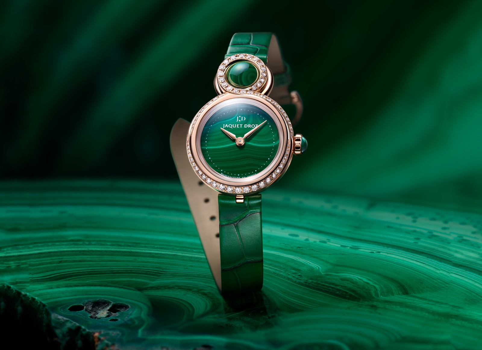 Jaquet Droz en el Time to Move 2019 - Lady 8 Petite Malachite