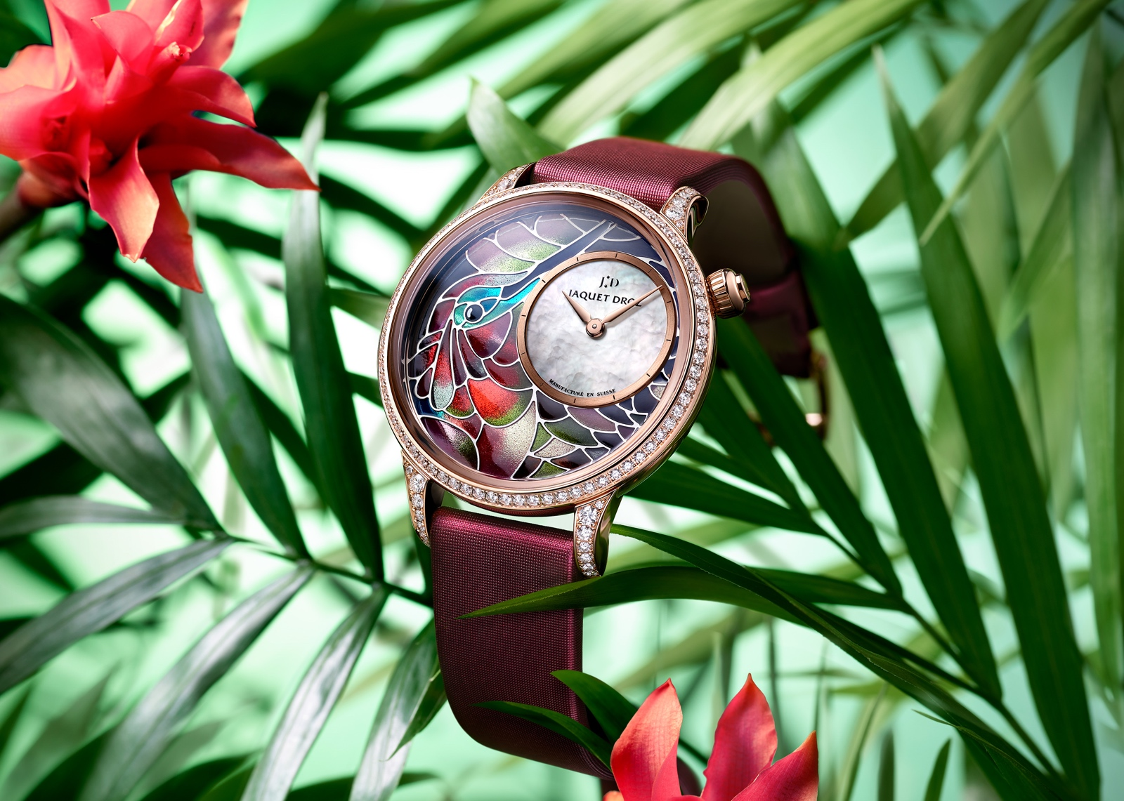 Jaquet Droz en el Time to Move 2019 - Petite Heure Minute «Smalta Clara Hummingbird»