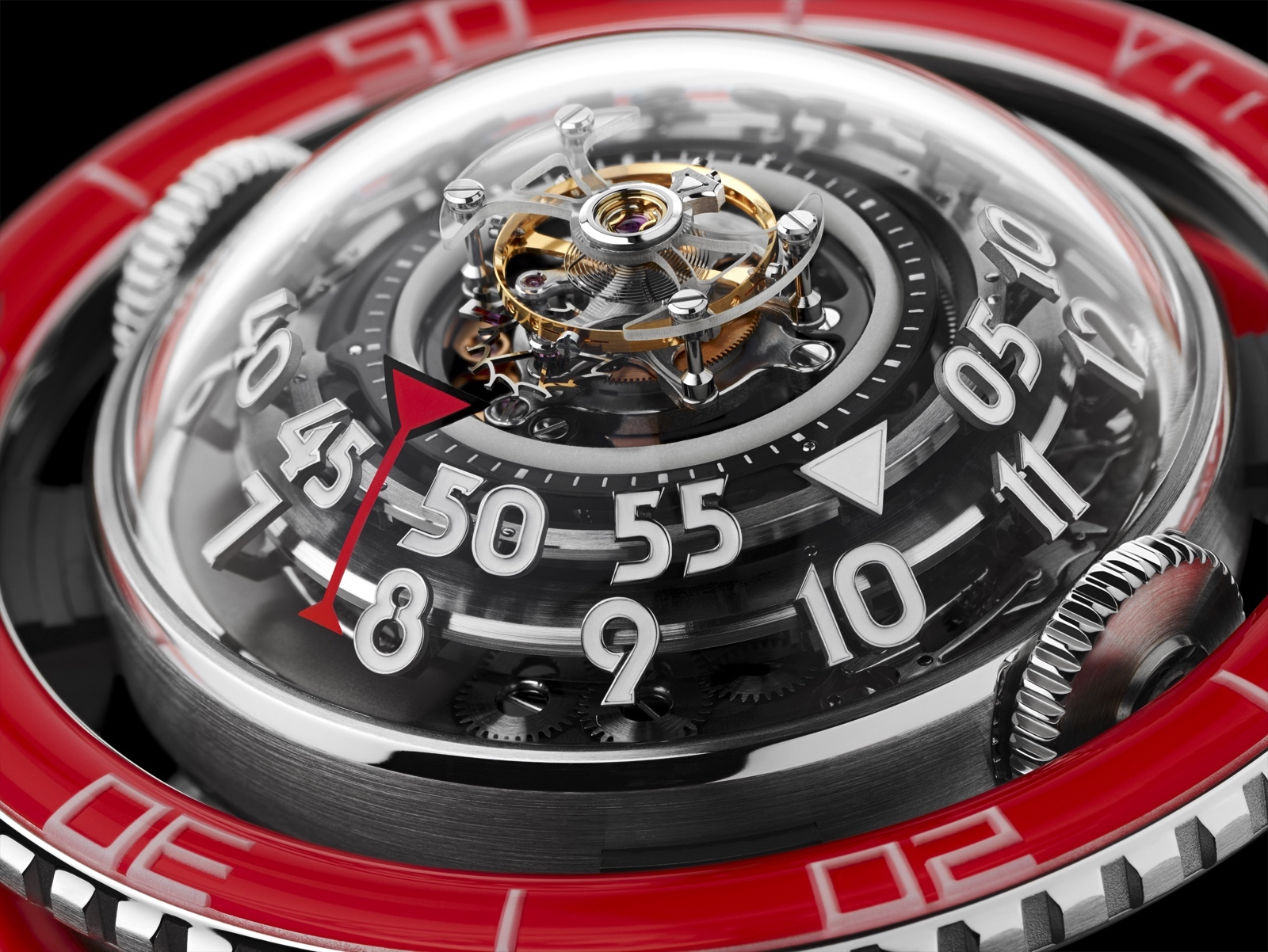 HM7 Aquapod Platinum Red Detail