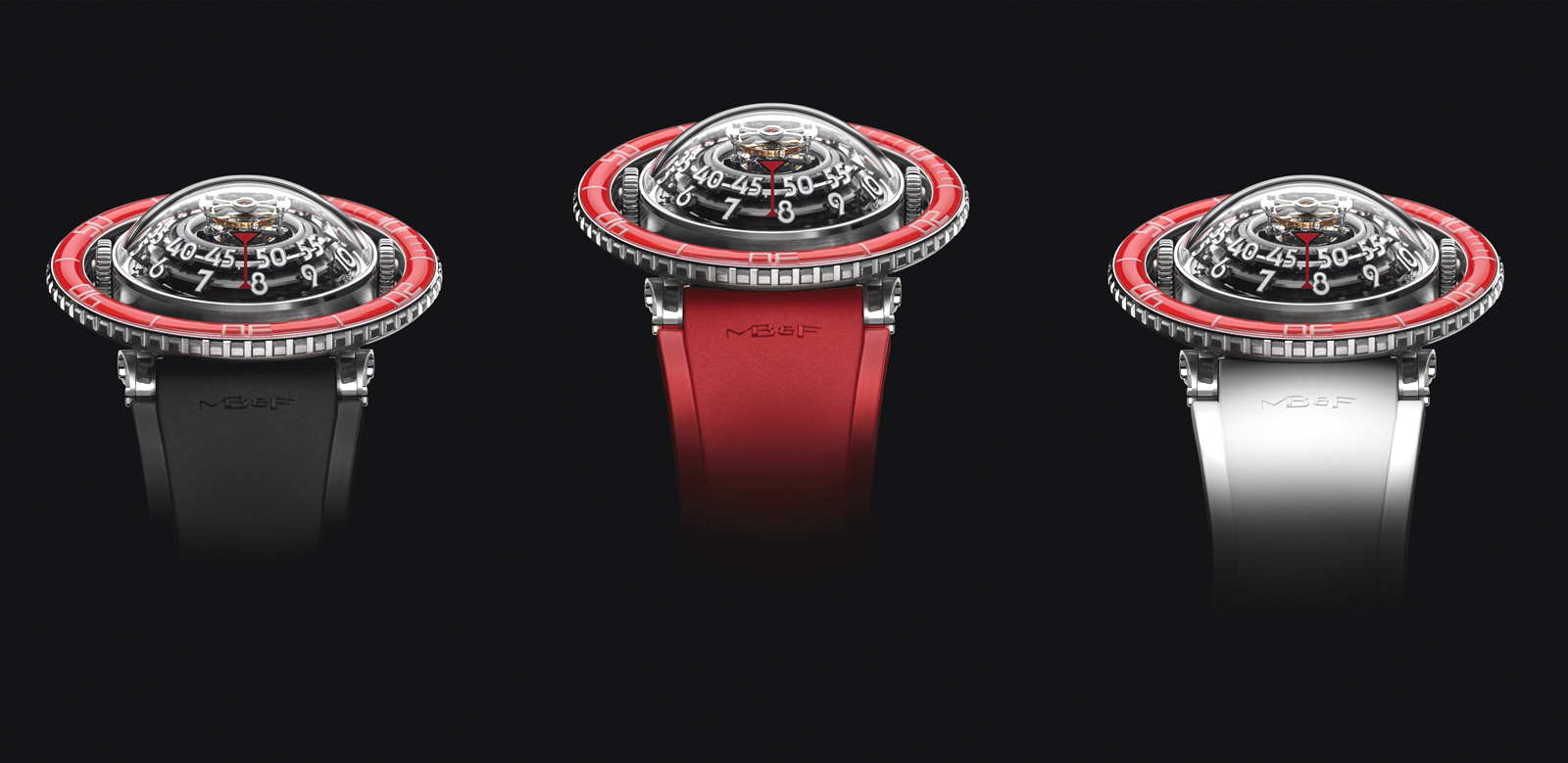 HM7 Aquapod Platinum Red Straps