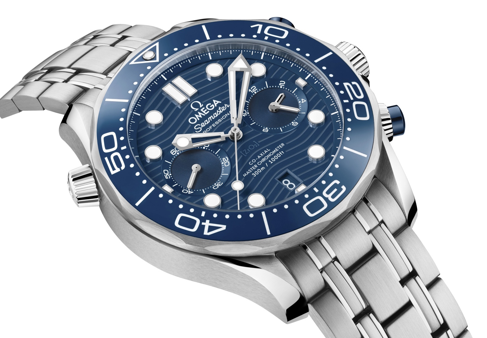 Omega Seamaster Diver 300M Chronograph Blue 1
