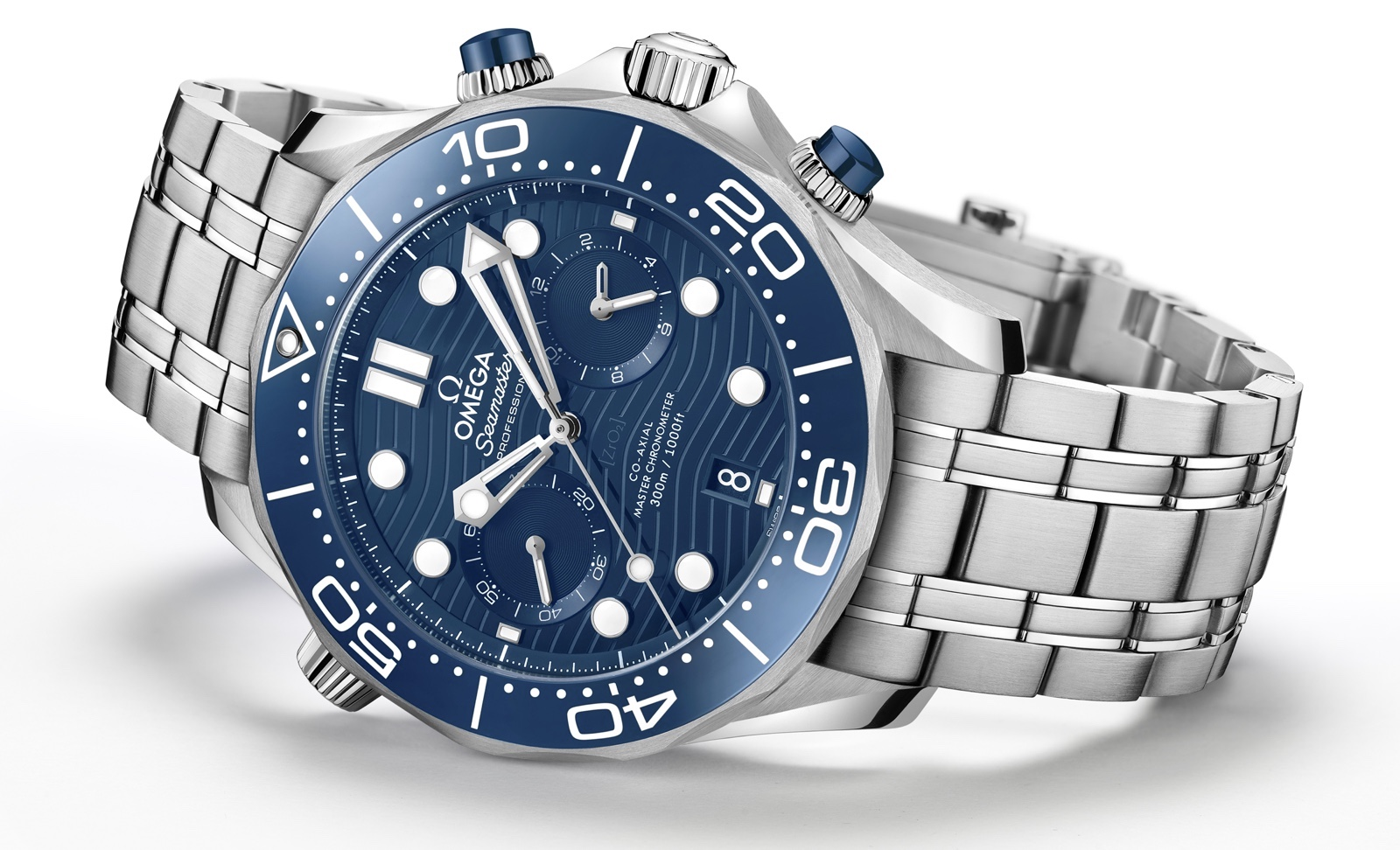 Omega Seamaster Diver 300M Chronograph Blue 2