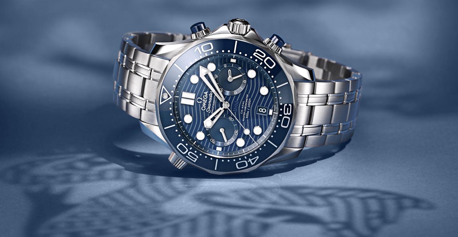 Omega Seamaster Diver 300M Chronograph Blue Amb