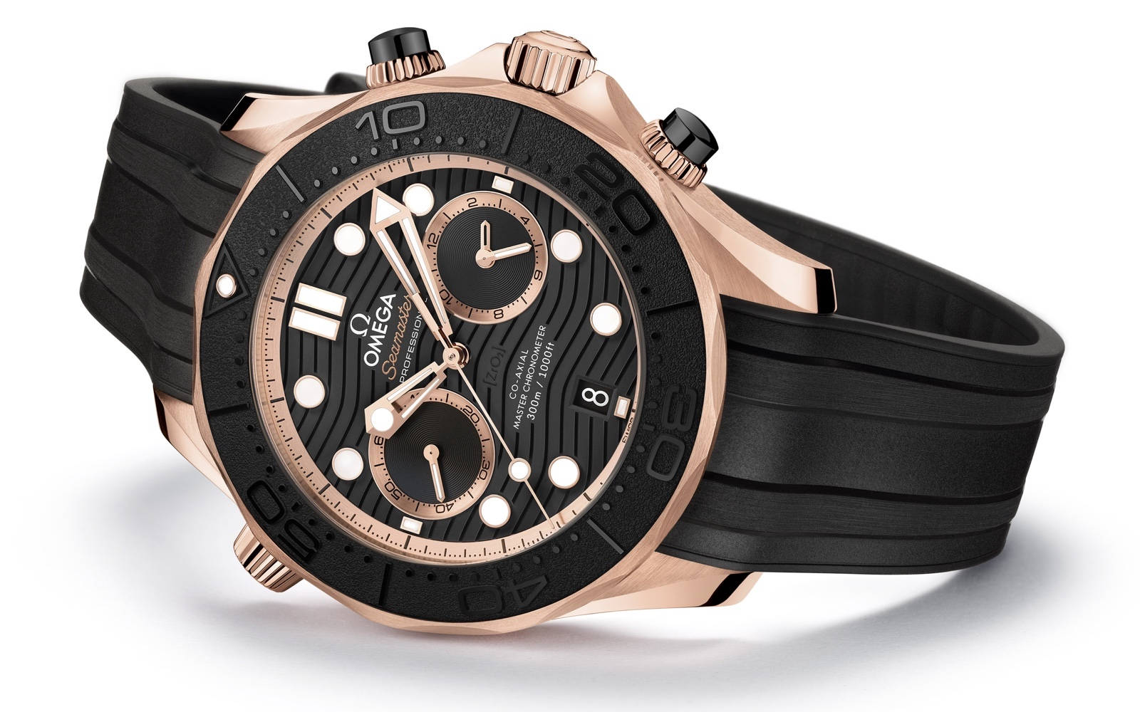 Omega Seamaster Diver 300M Chronograph Sedna Gold 2
