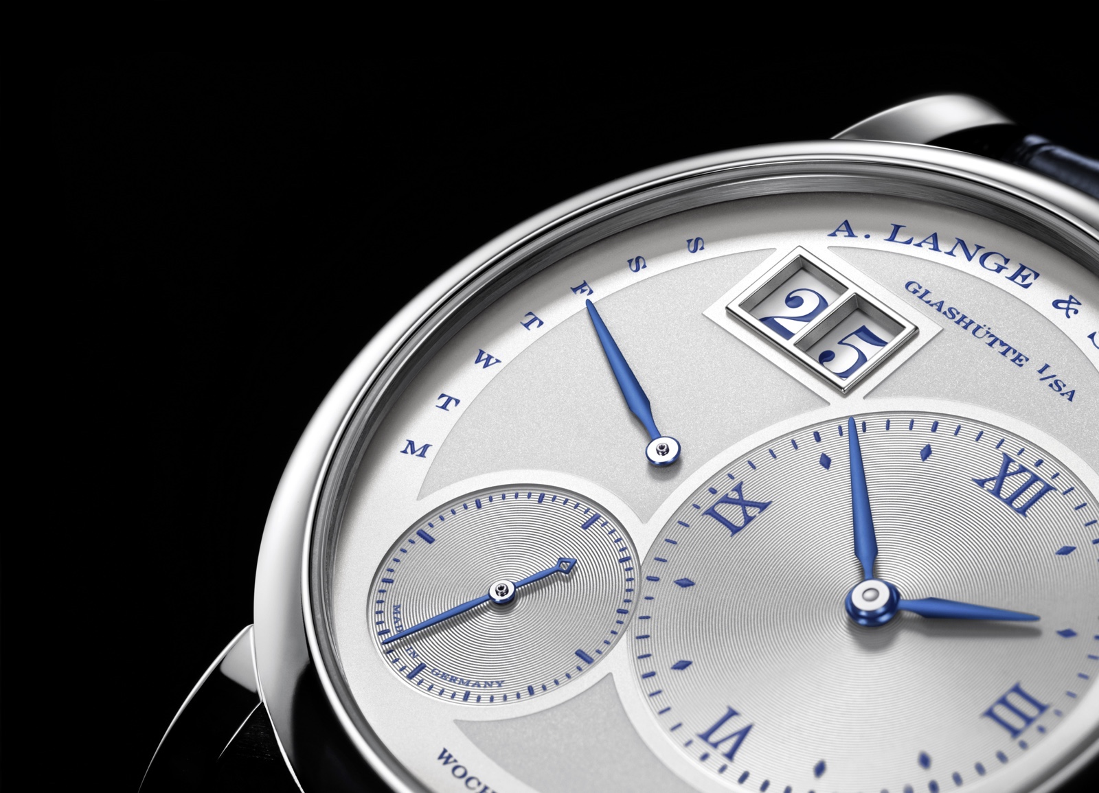 A. Lange & Söhne Lange 1 Daymatic 25th Anniversary Detail
