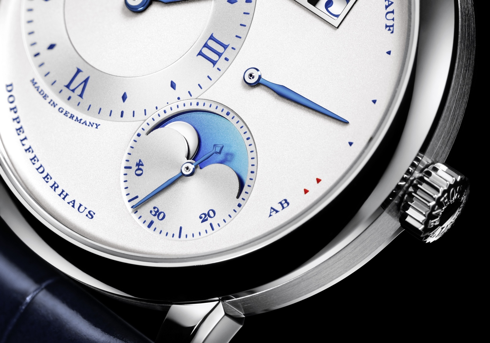 Lange 1 Moon Phase 25th Anniversary Detail