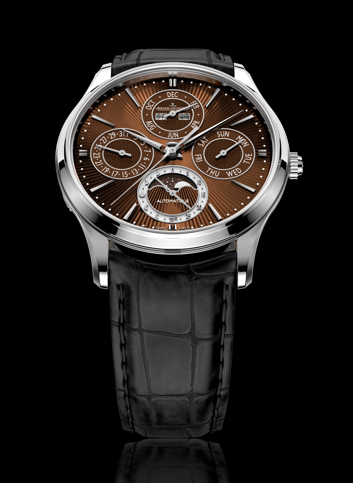 Jaeger-LeCoultre Master Ultra Thin Perpetual Enamel Chestnut - front