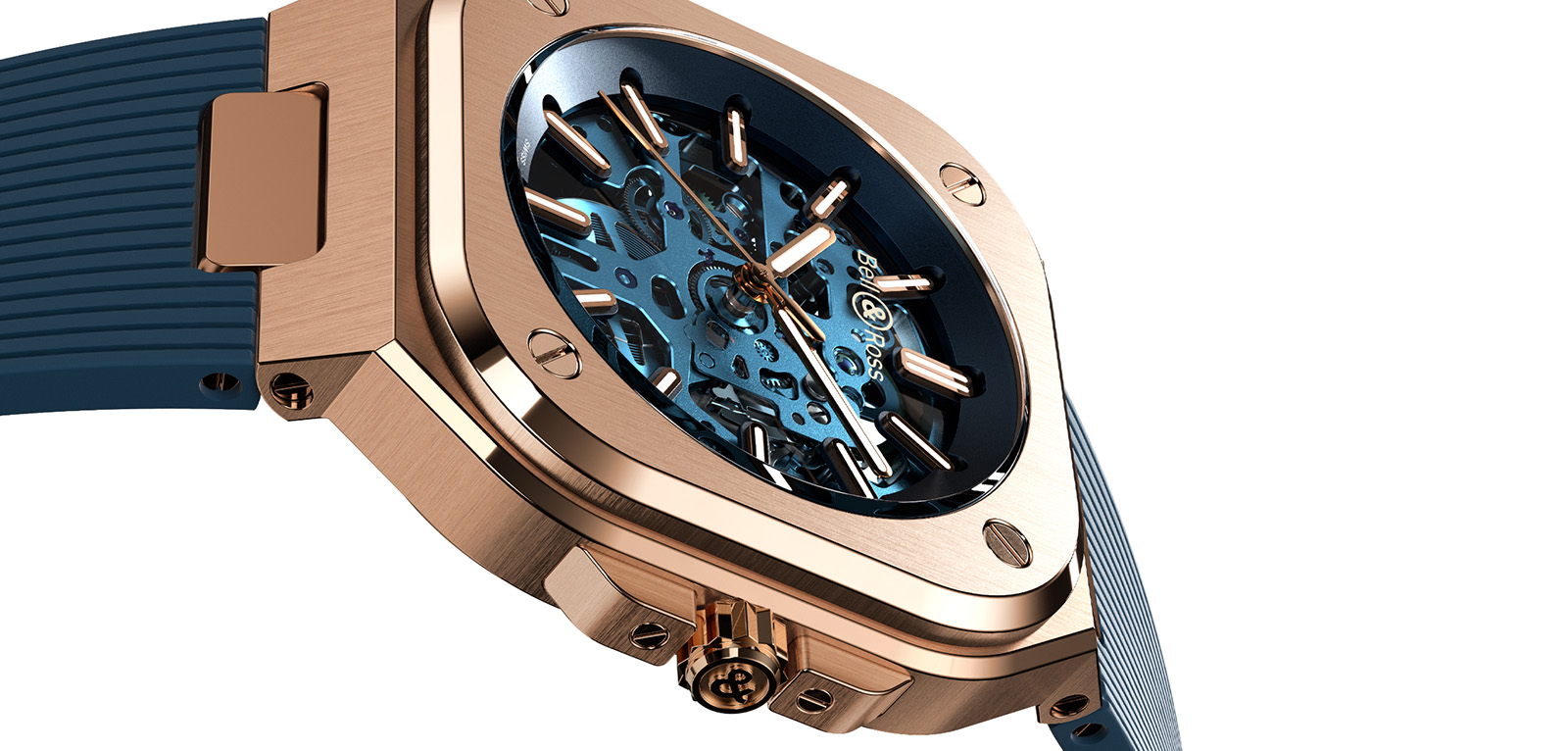 Bell & Ross BR05 Skeleton Gold Blue Only Watch 2019