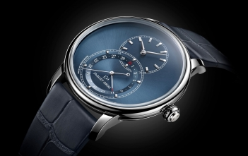 Jaquet Droz Grande Seconde Quantième blue dial - cover
