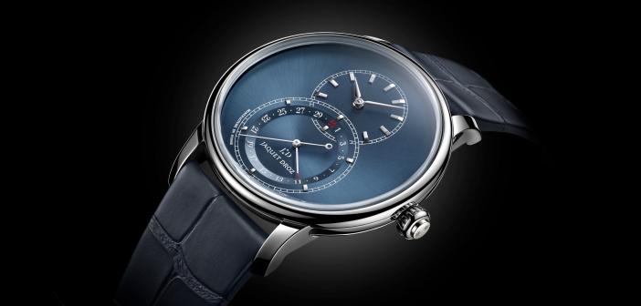 Jaquet Droz Grande Seconde Quantième blue dial