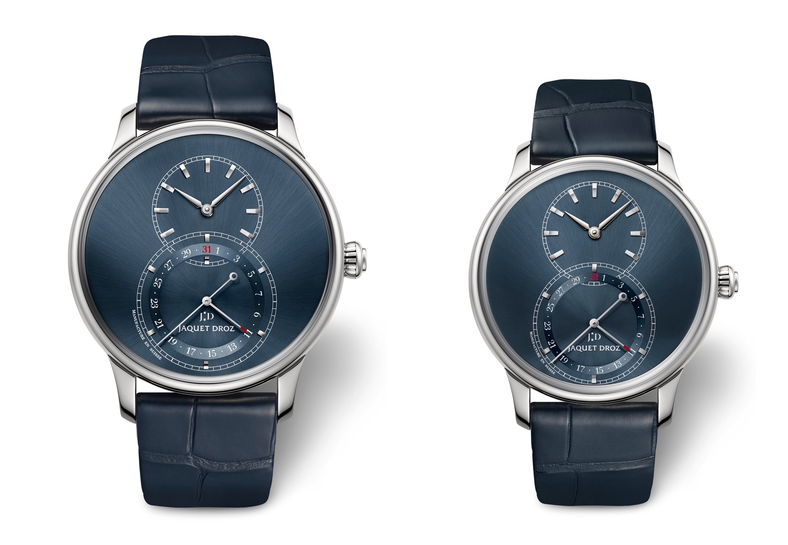Jaquet Droz Grande Seconde Quantième blue dial - duo