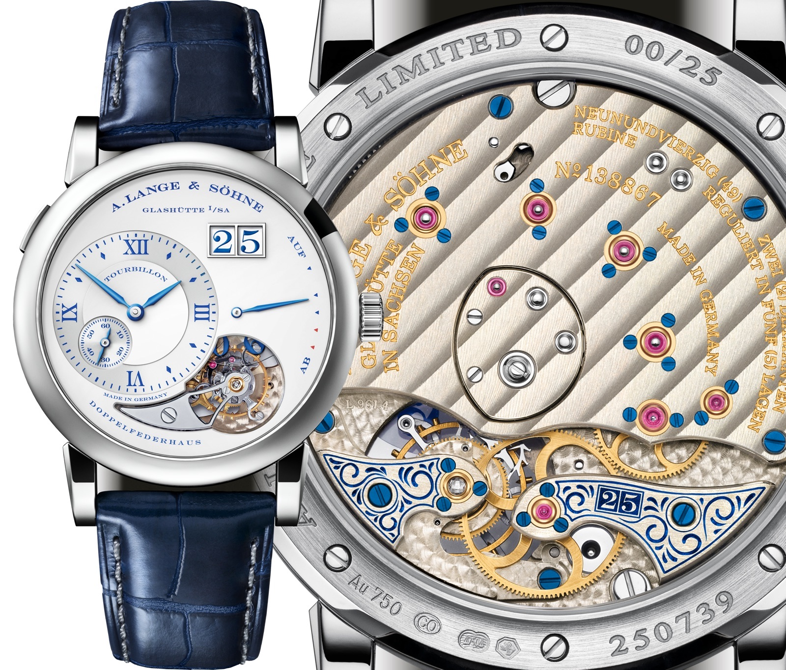 Lange 1 Tourbillon 25th Anniversary Details