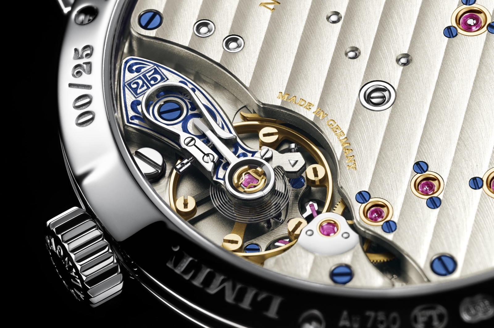 Little Lange 1 Moon Phase 25th Anniversary Caseback