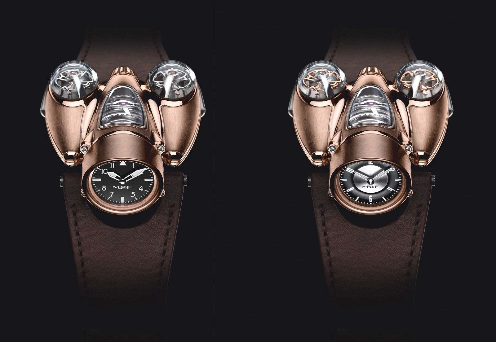 MB&F Horological Machine Nº9 Flow Red Gold Face