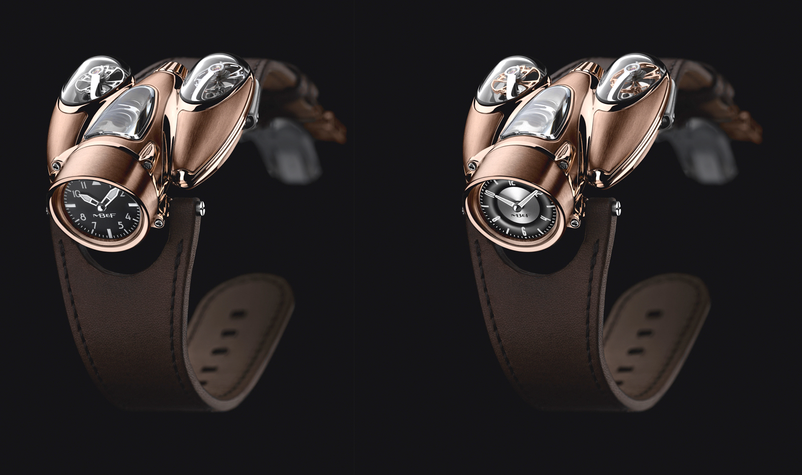 MB&F Horological Machine Nº9 Flow Red Gold Front