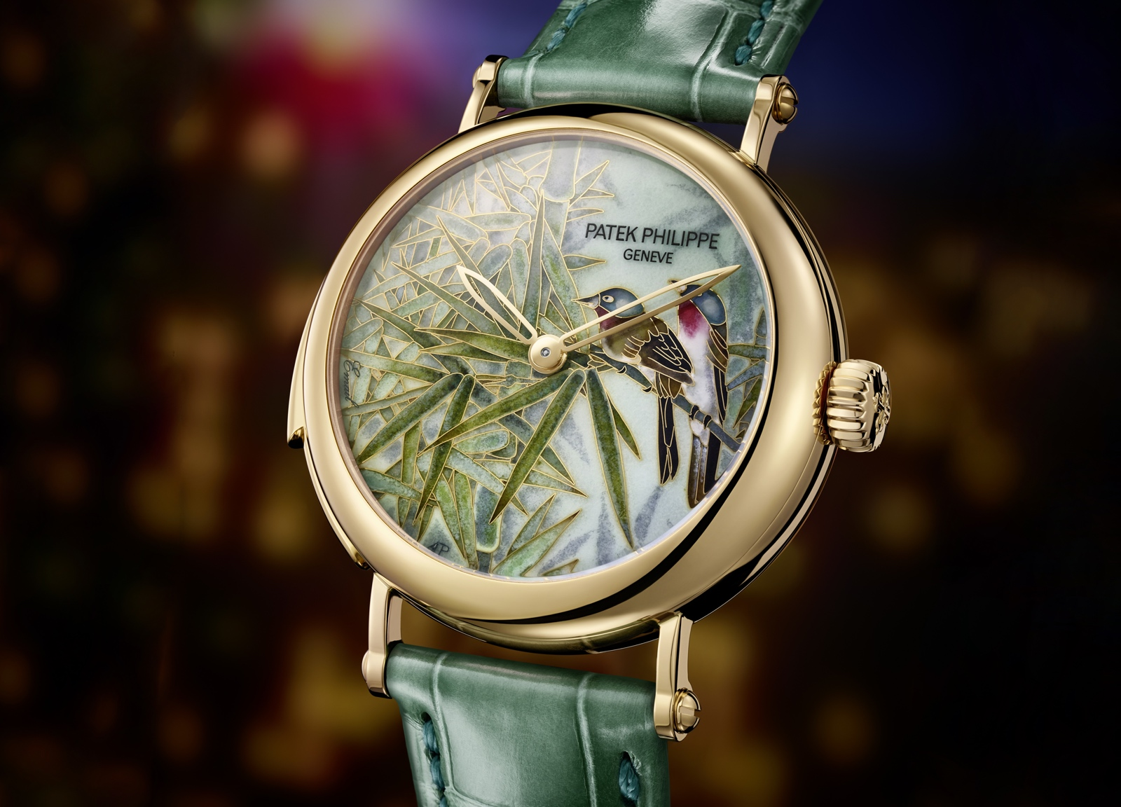 "Patek Philippe Singapore 2019 Rare Handcrafts - 7000/50R ""Titmice in the reed"""