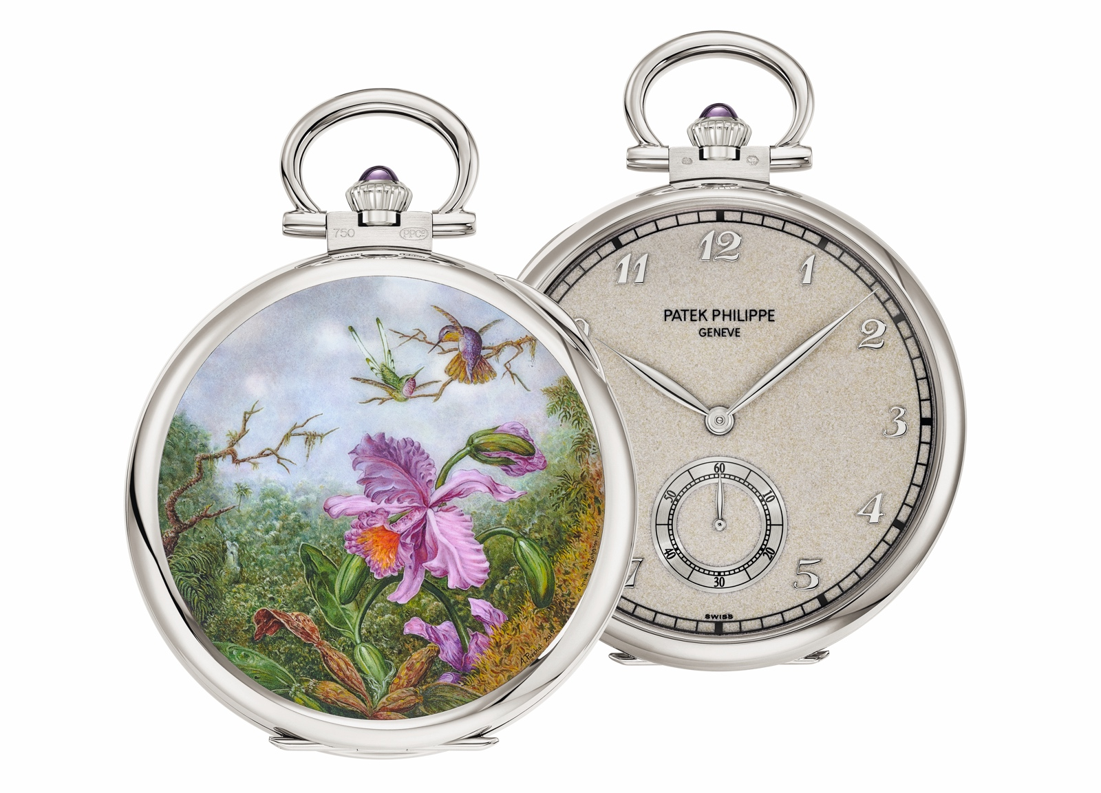 "Patek Philippe Singapore 2019 Rare Handcrafts - 992/144G-001 ""Orchids and hummingbirds"""