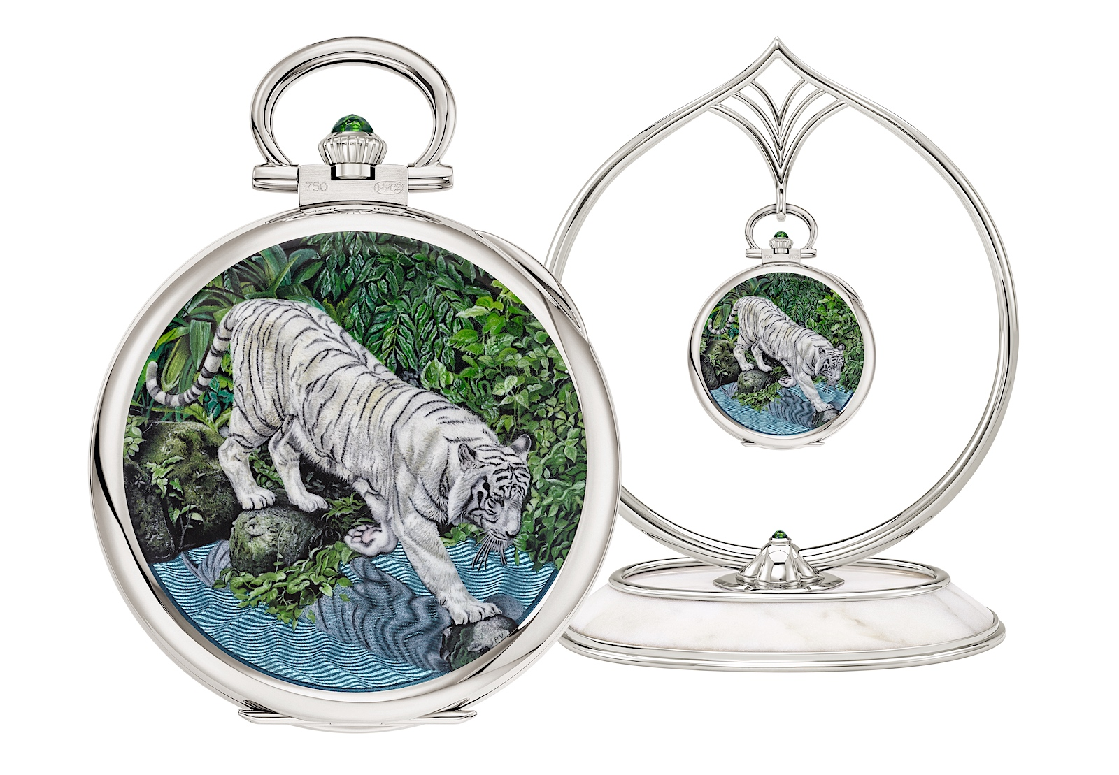 "Patek Philippe Singapore 2019 Rare Handcrafts - 992/153G-001 ""White tiger"""