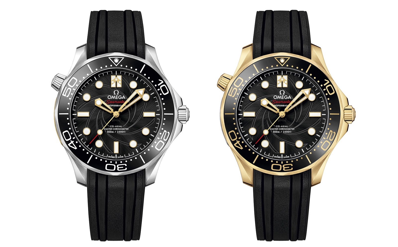 Omega The James Bond Set Limited Edition Yellow Gold Models