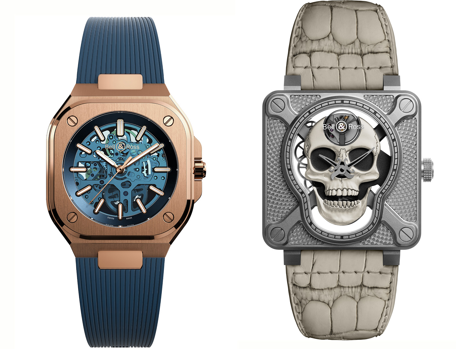 Bell-Ross-BR 05 only watch + BR-01-Laughing-Skull-White-04