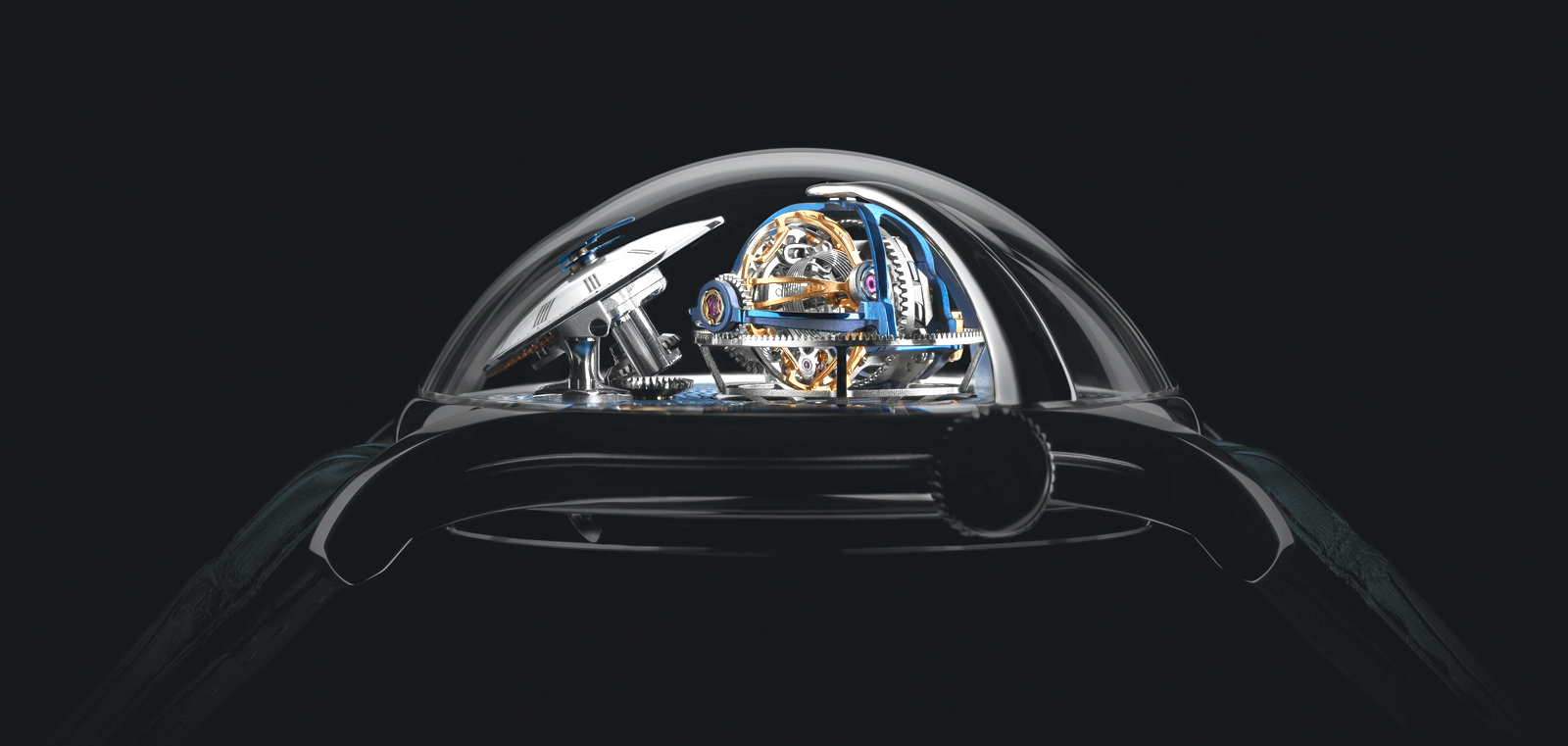 MB&F Legacy Machine Thunderdome Platinum Profile