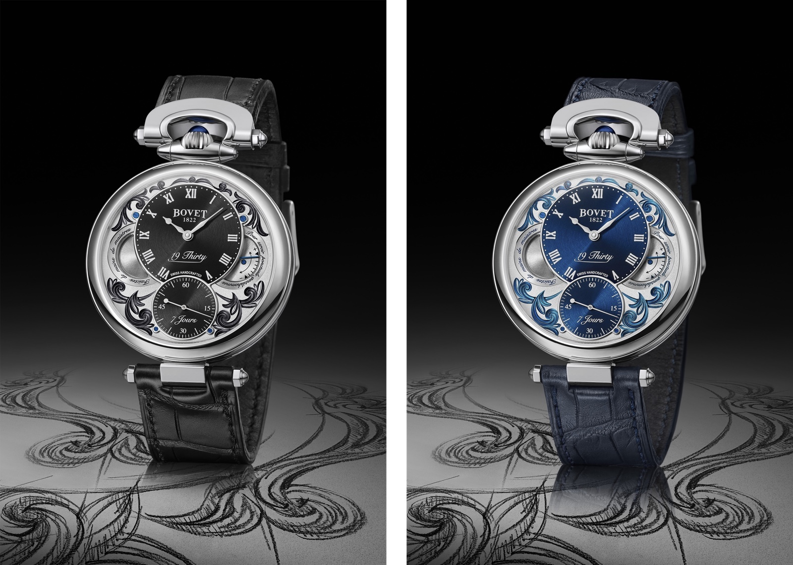 Bovet 1822 19Thirty Fleurisanne lacquered