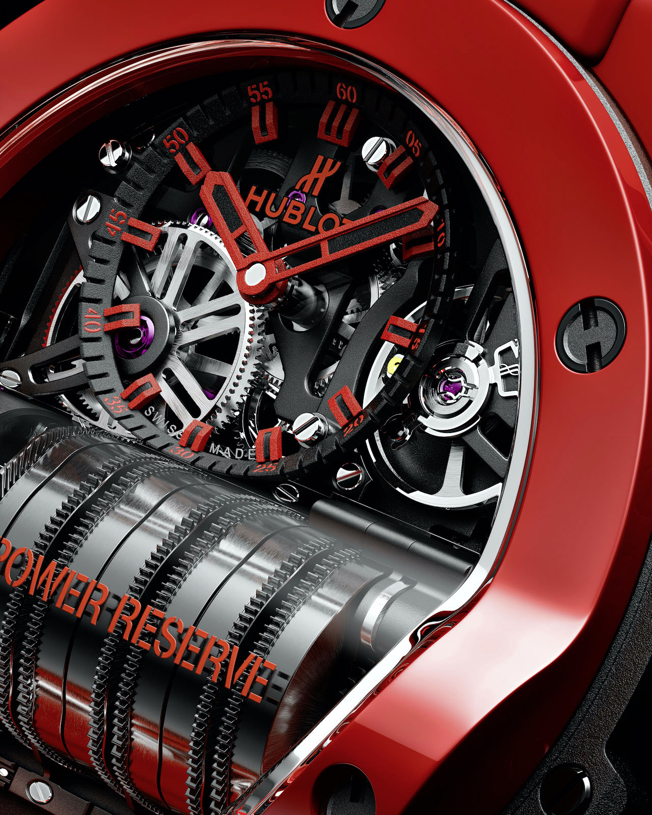 Hublot Big Bang MP-11 Red Magic - detalle