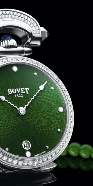 Esferas verdes para los Miss Audrey y Monsieur Bovet de Bovet 1822.