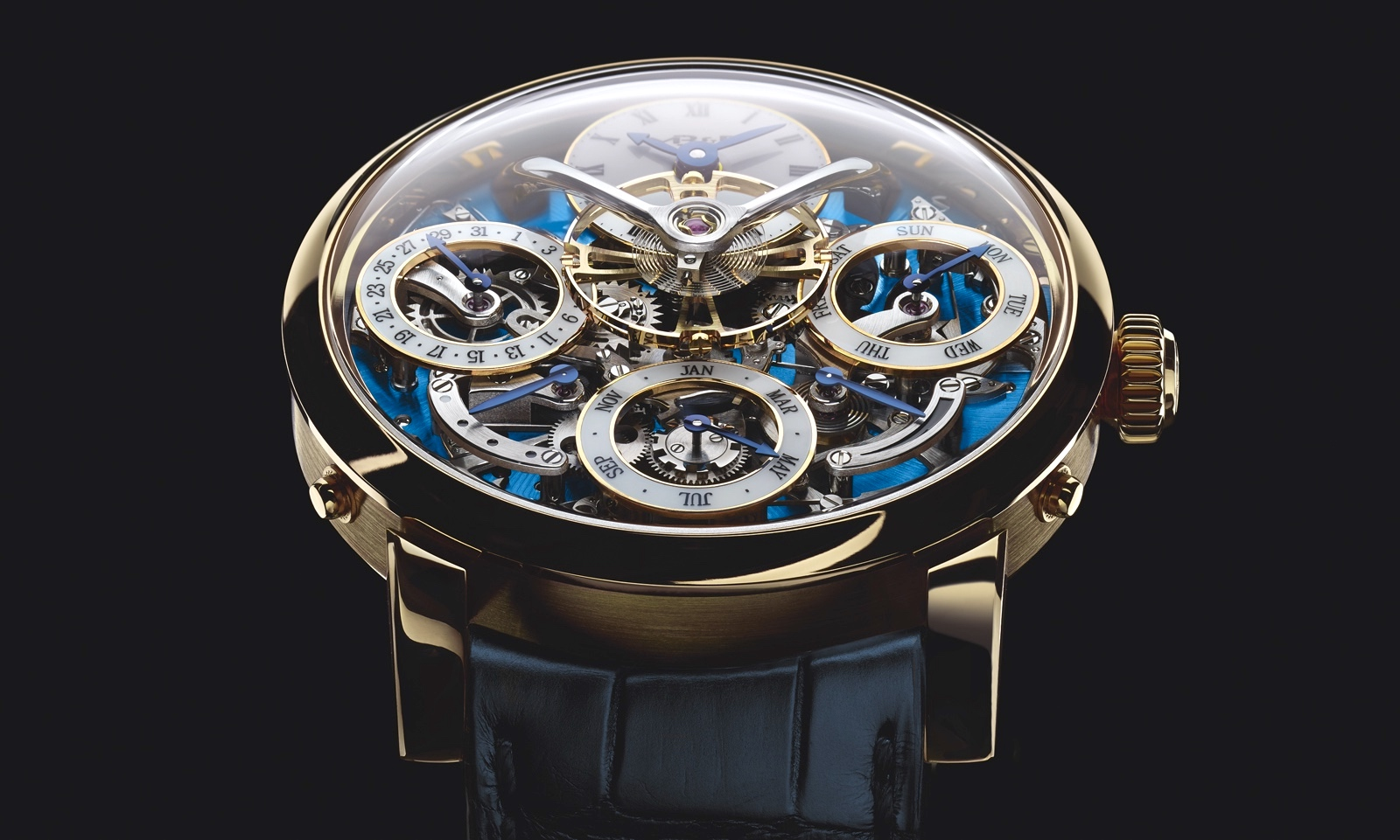 MB&F LM Perpetual Yellow Gold Face