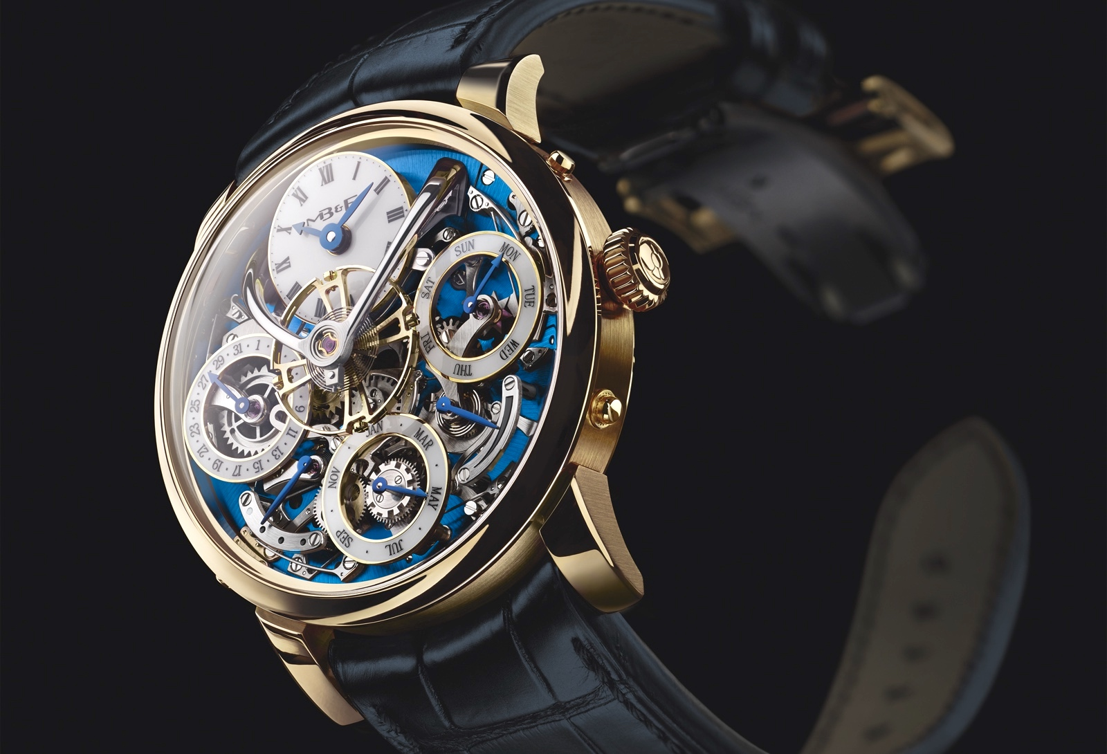 MB&F LM Perpetual Yellow Gold Front