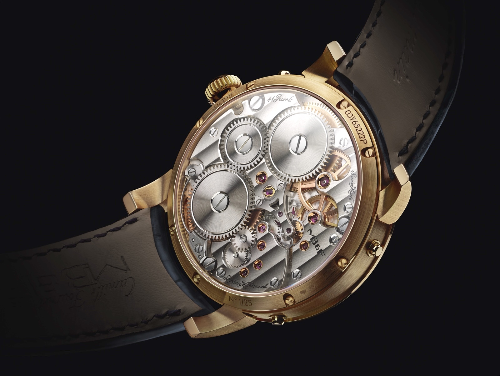 MB&F Legacy Machine Perpetual Yellow Gold Caseback