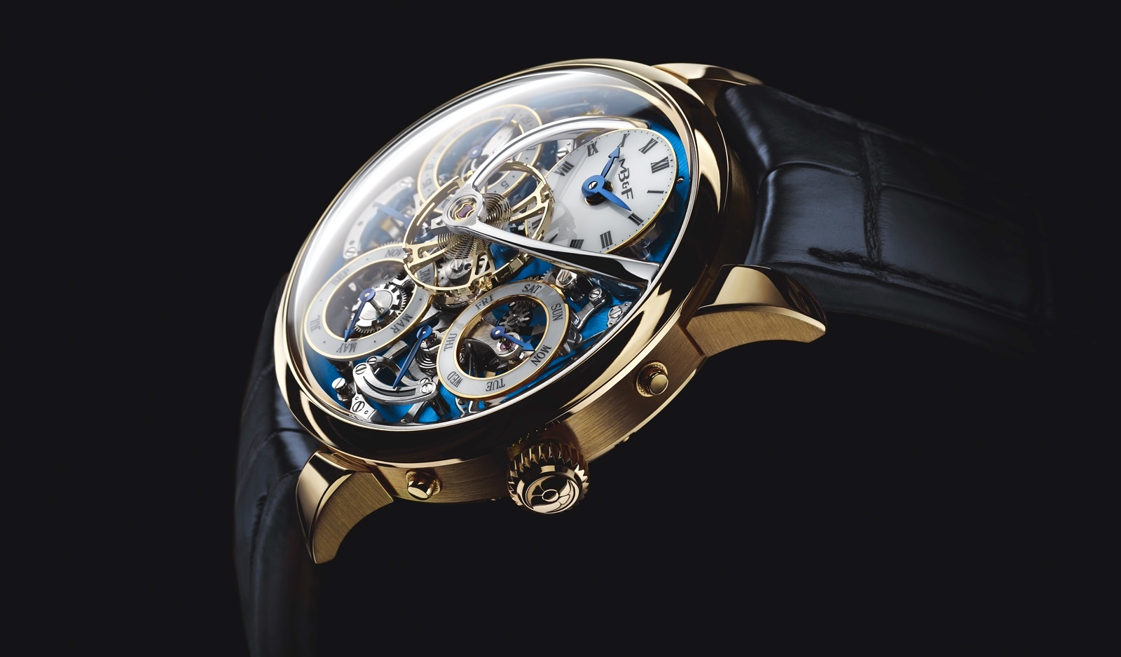 MB&F Legacy Machine Perpetual Yellow Gold Profile
