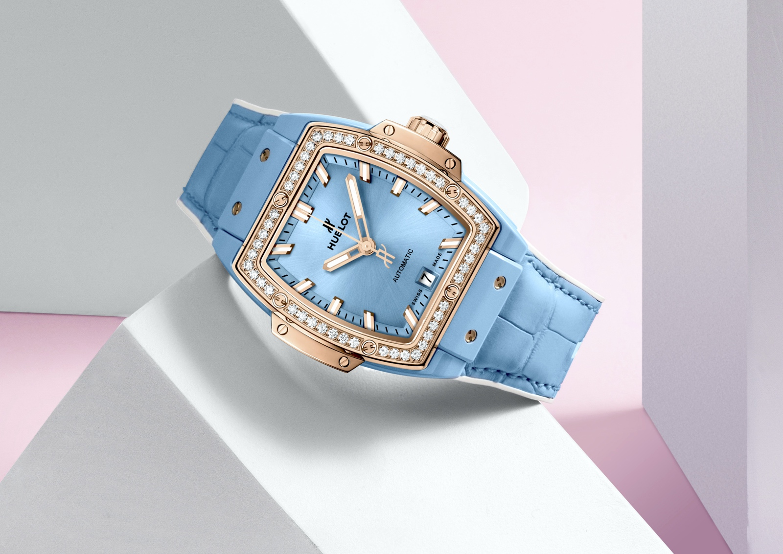 Hublot Spirit of Big Bang Light Blue & Pink Ceramic - King Gold blue