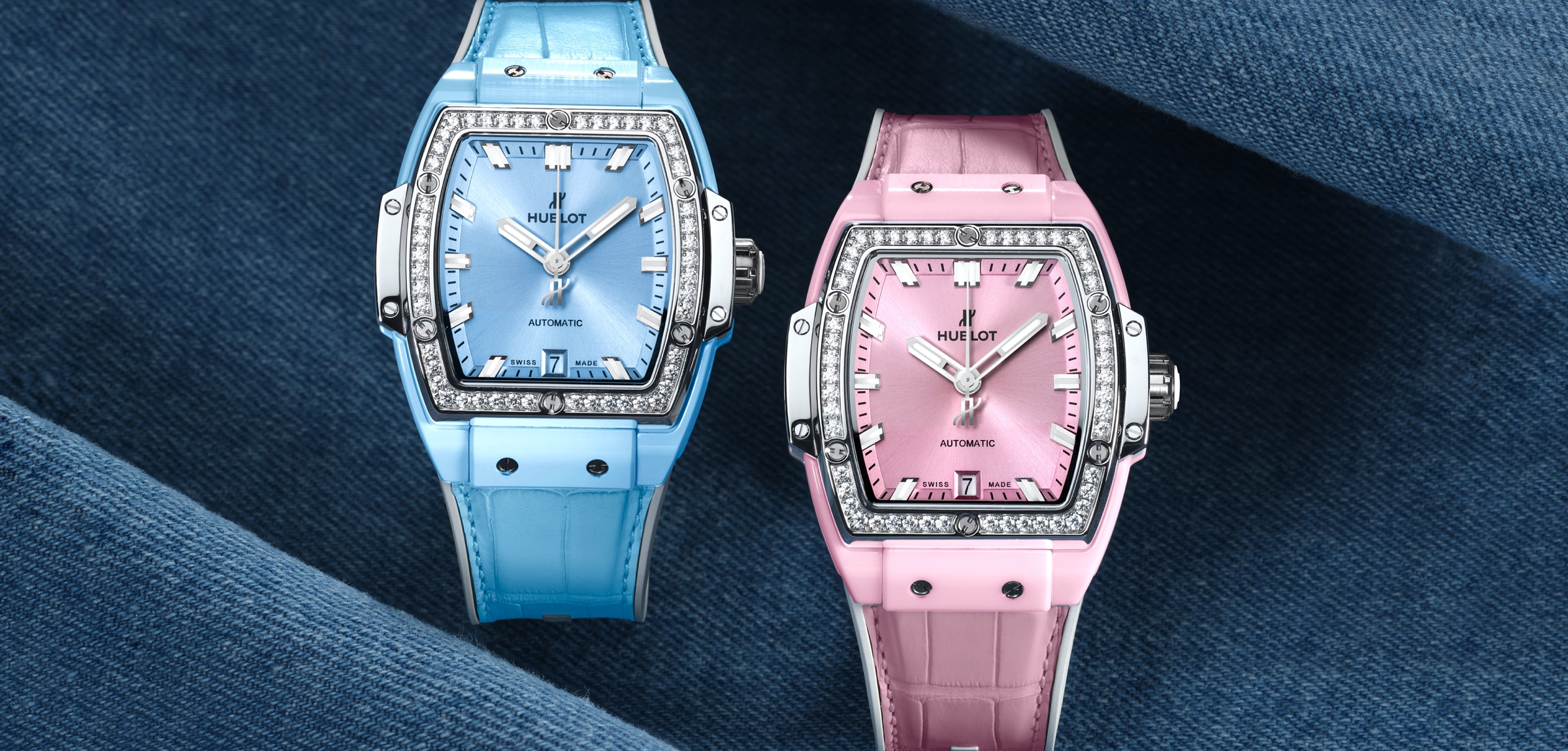 Hublot Spirit of Big Bang Light Blue & Pink Ceramic - Titanium cover