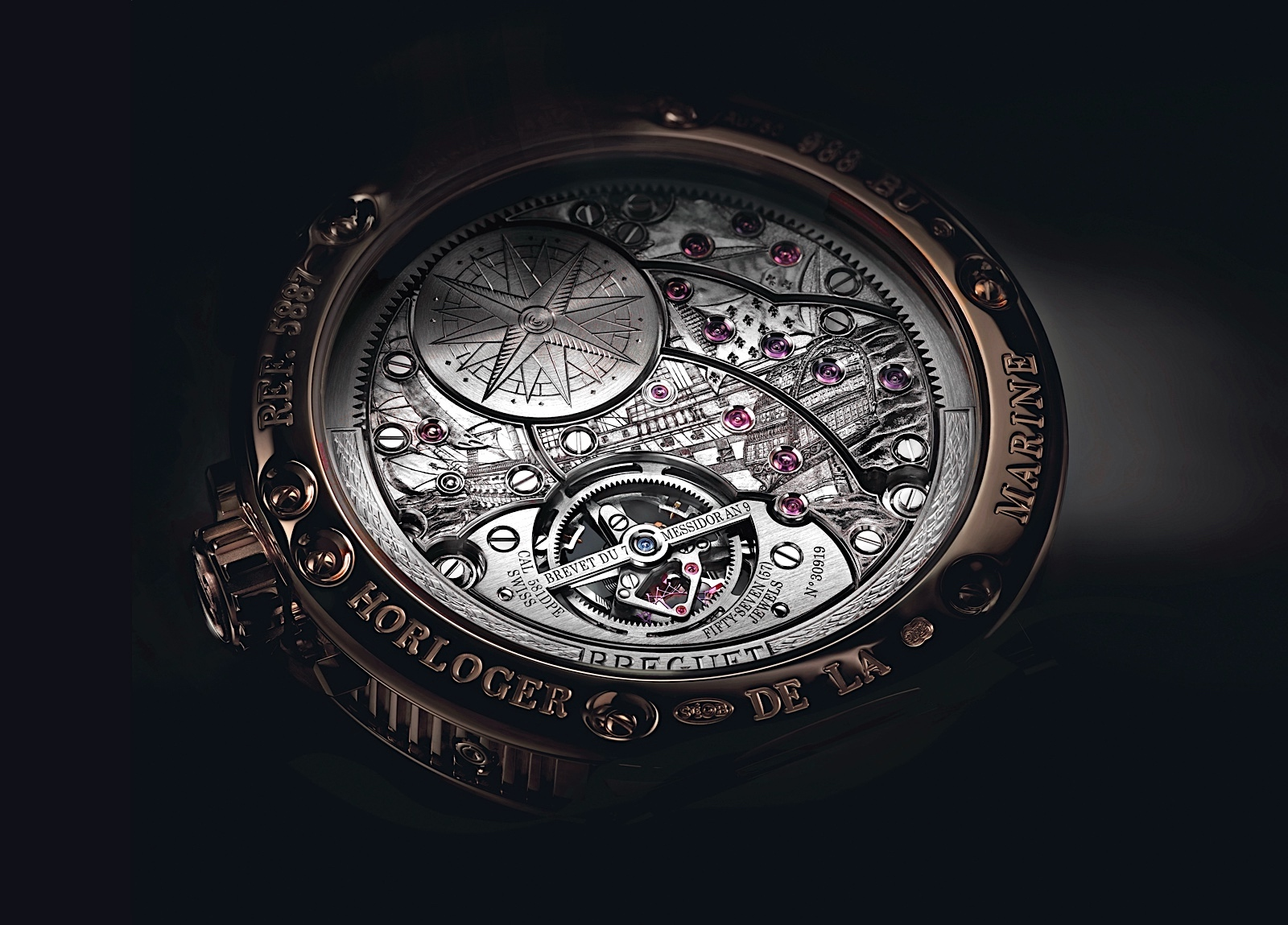 Breguet Marine Tourbillon Equation Marchante 5887 - back