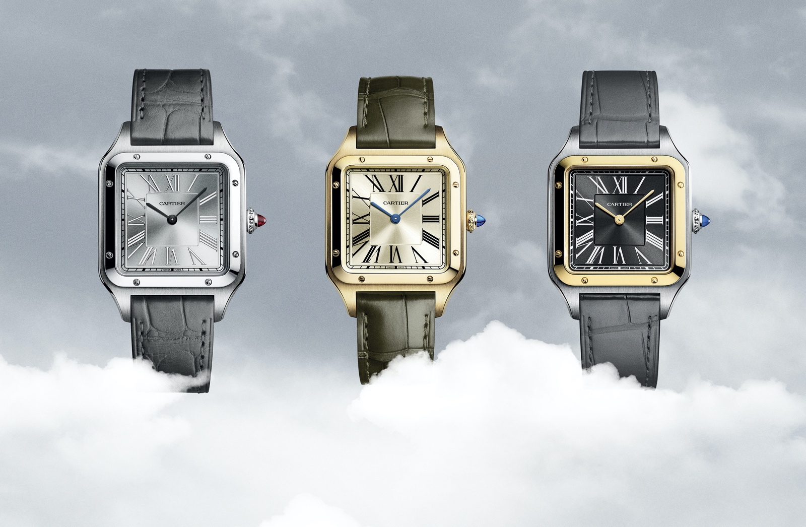 Cartier Santos-Dumont Limited-Editions - trio