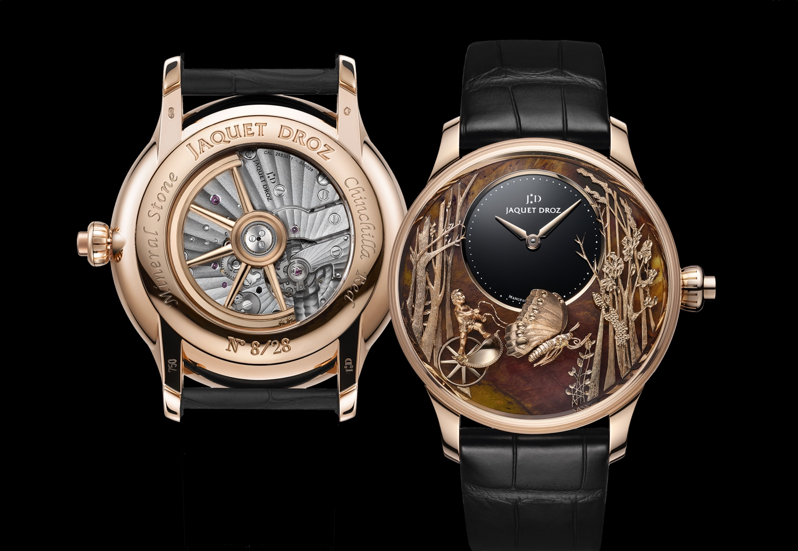 Jaquet Droz Loving Butterfly Automaton - front-back