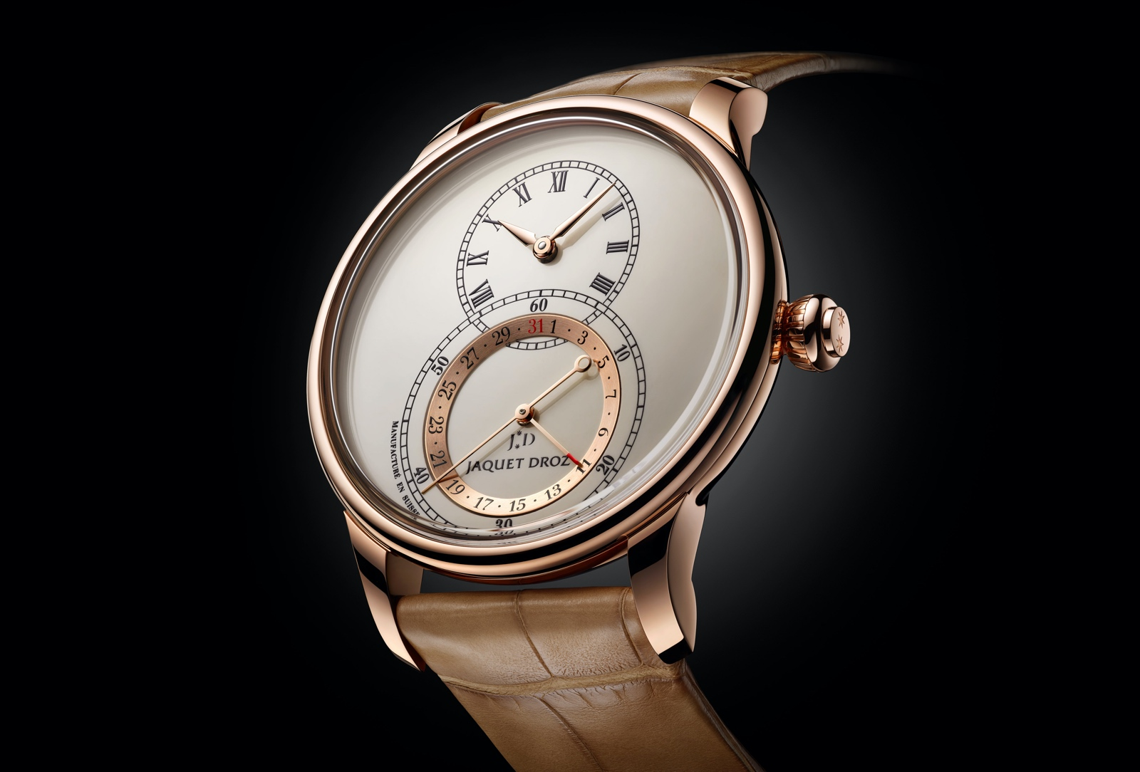 Jaquet Droz Grande Seconde Quantième 41 - red gold ivory