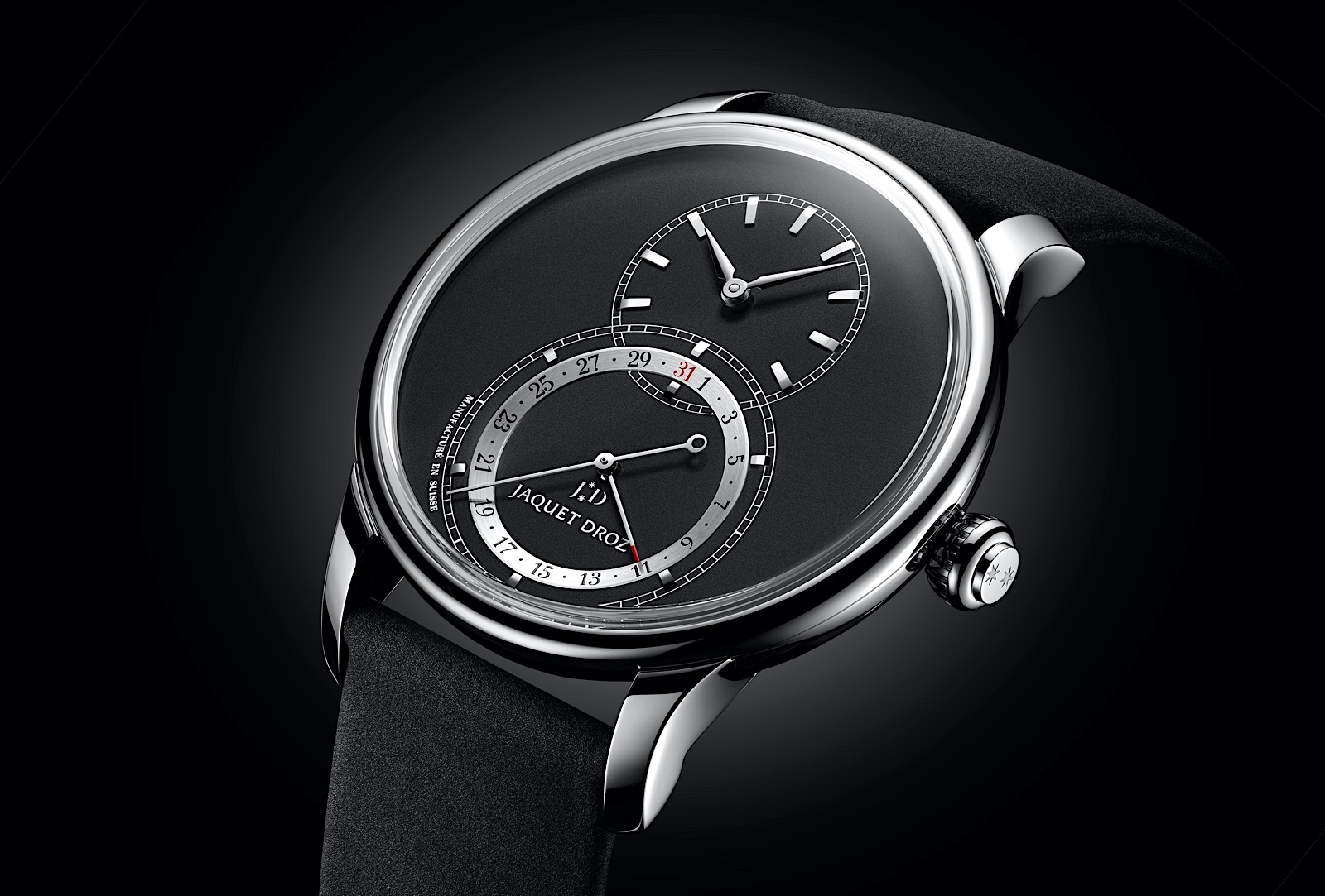 Jaquet Droz Grande Seconde Quantième 41 - steel black