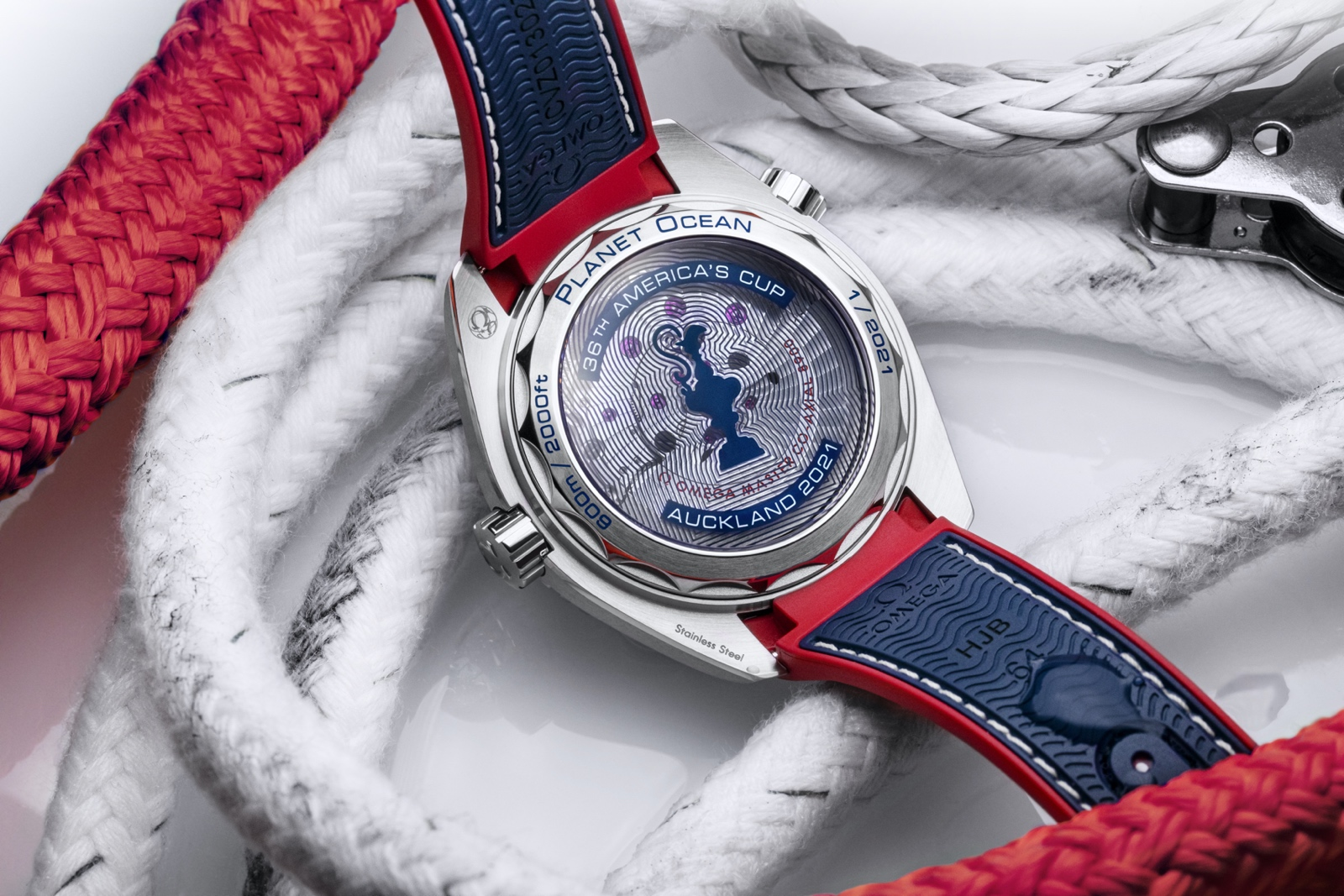 Omega Seamaster Planet Ocean 36th America's Cup - caseback