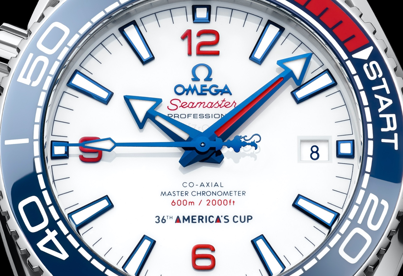 Omega Seamaster Planet Ocean 36th America's Cup - dial