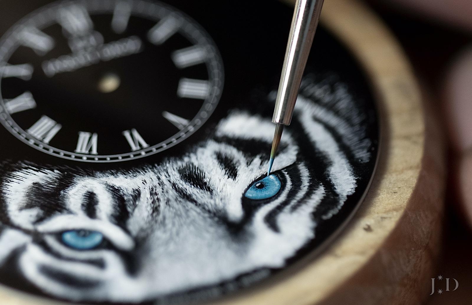 Jaquet Droz Petite Heure Minute Tiger - pintura