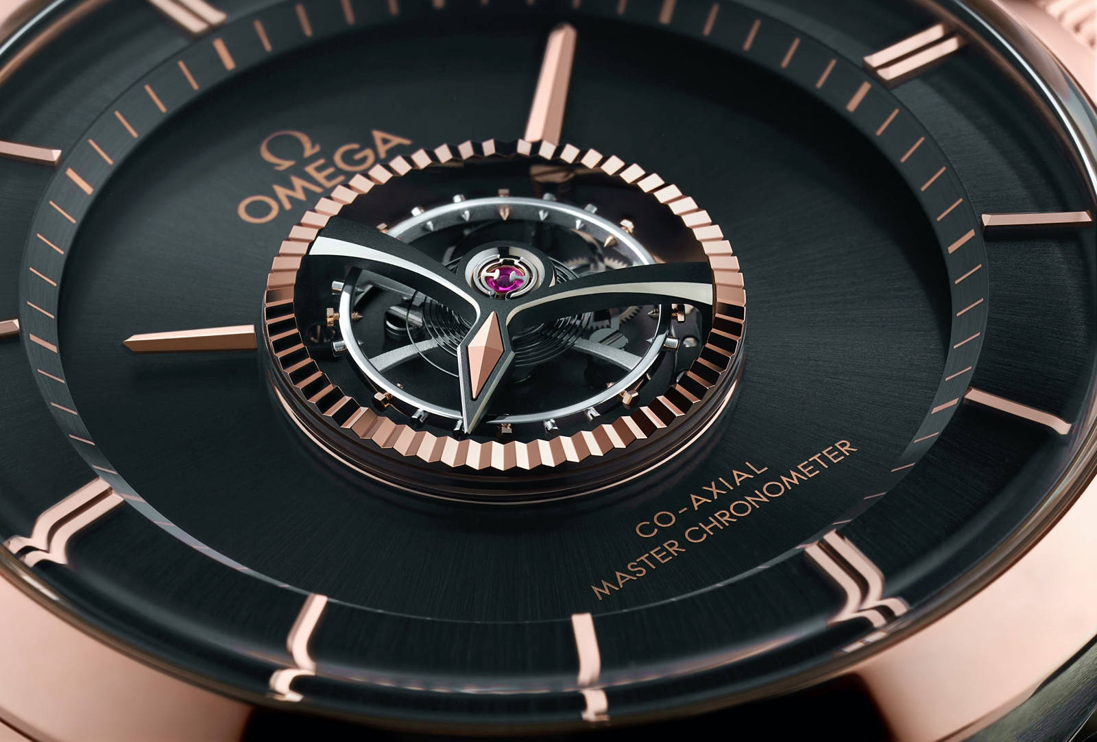 Omega De Ville Tourbillon Master Chronometer - dial