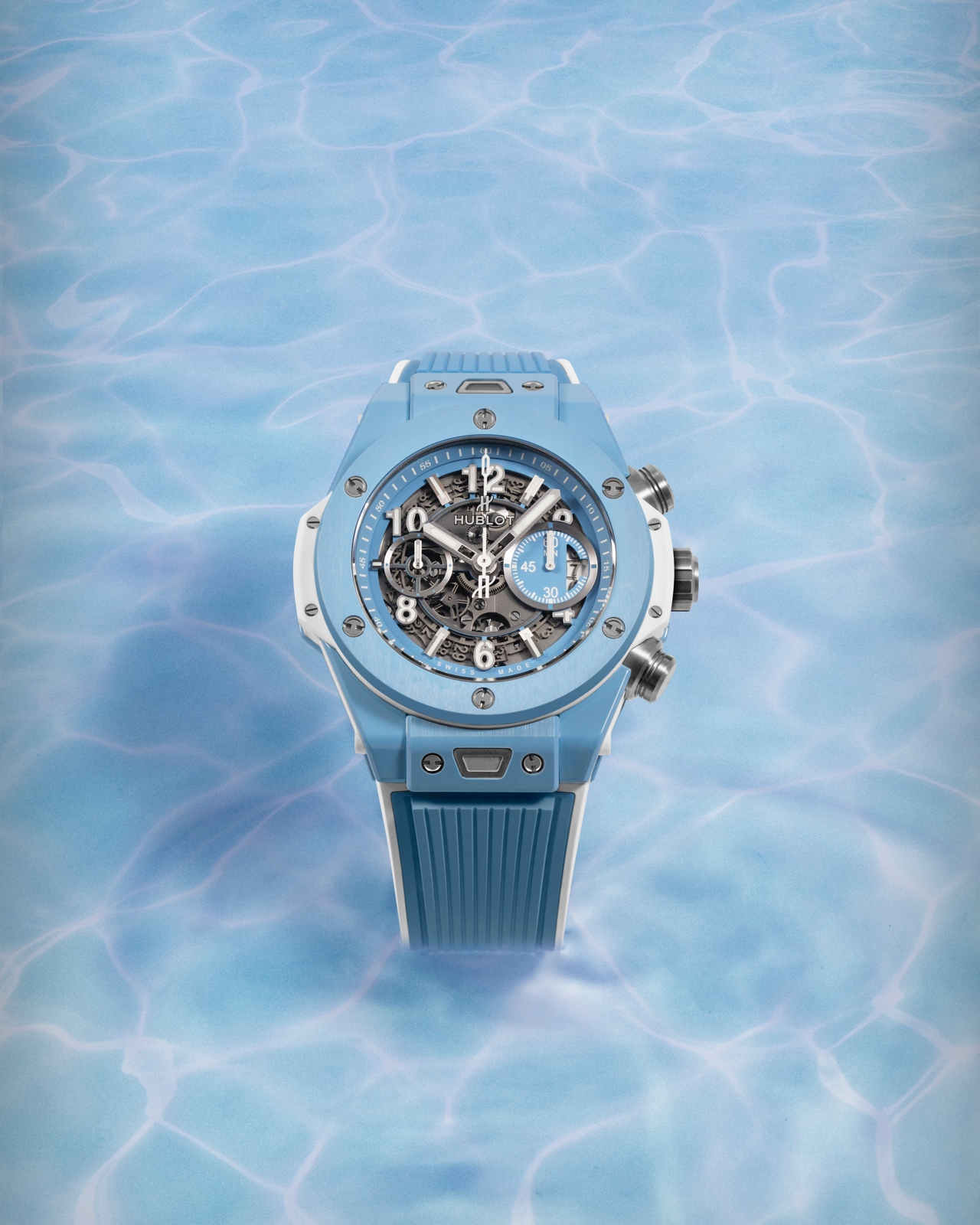 Hublot Big Bang Unico Sky Blue - water v