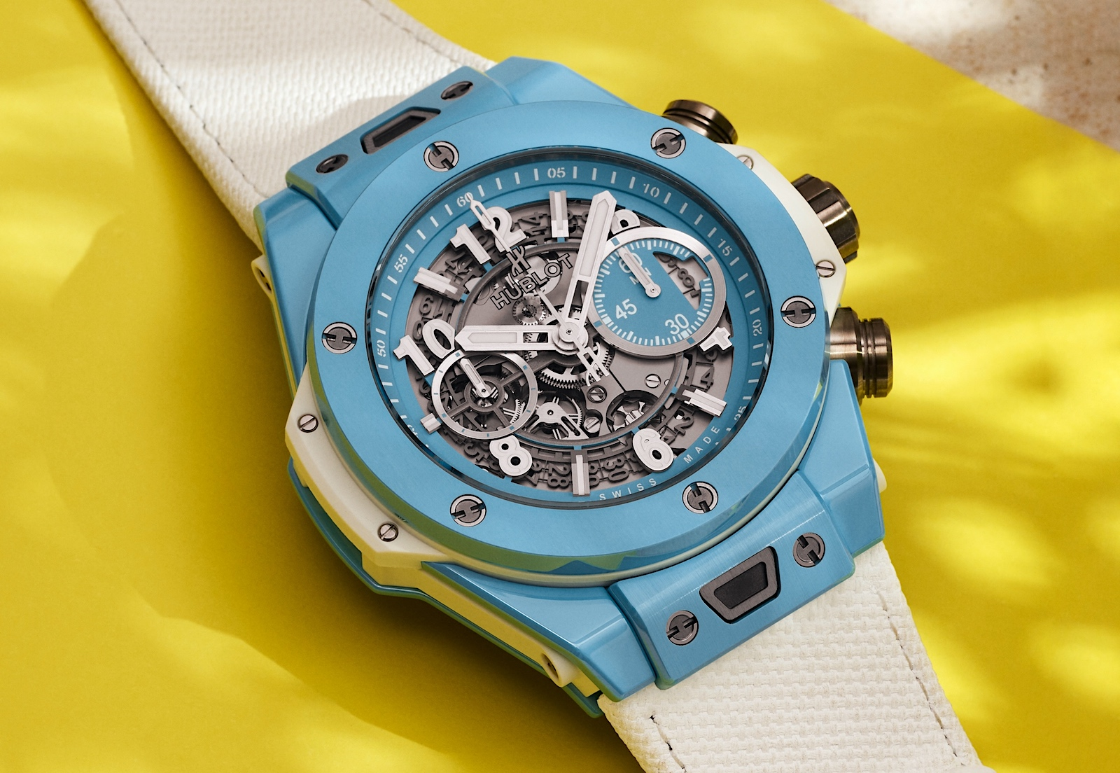 Hublot Big Bang Unico Sky Blue - yellow