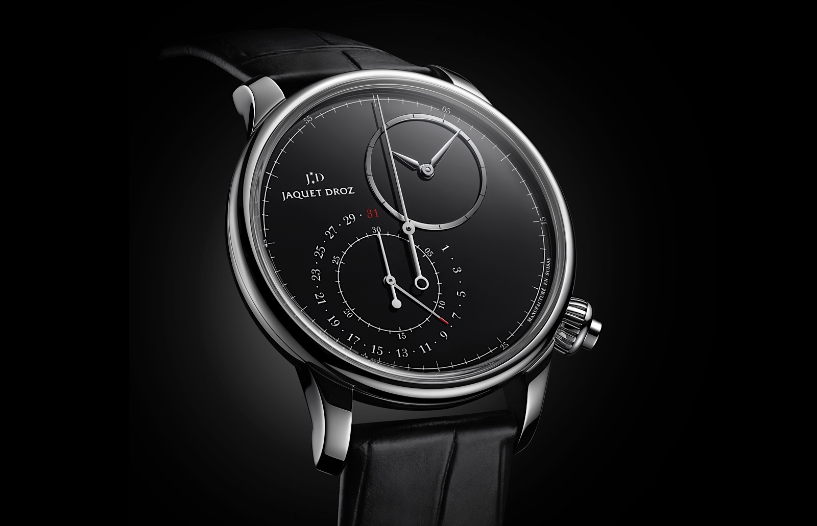 Jaquet Droz Grande Seconde Chronograph - steel black