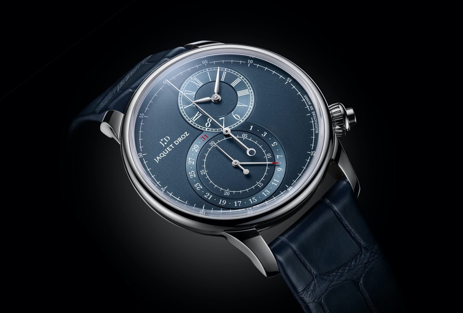 Jaquet Droz Grande Seconde Chronograph - steel blue