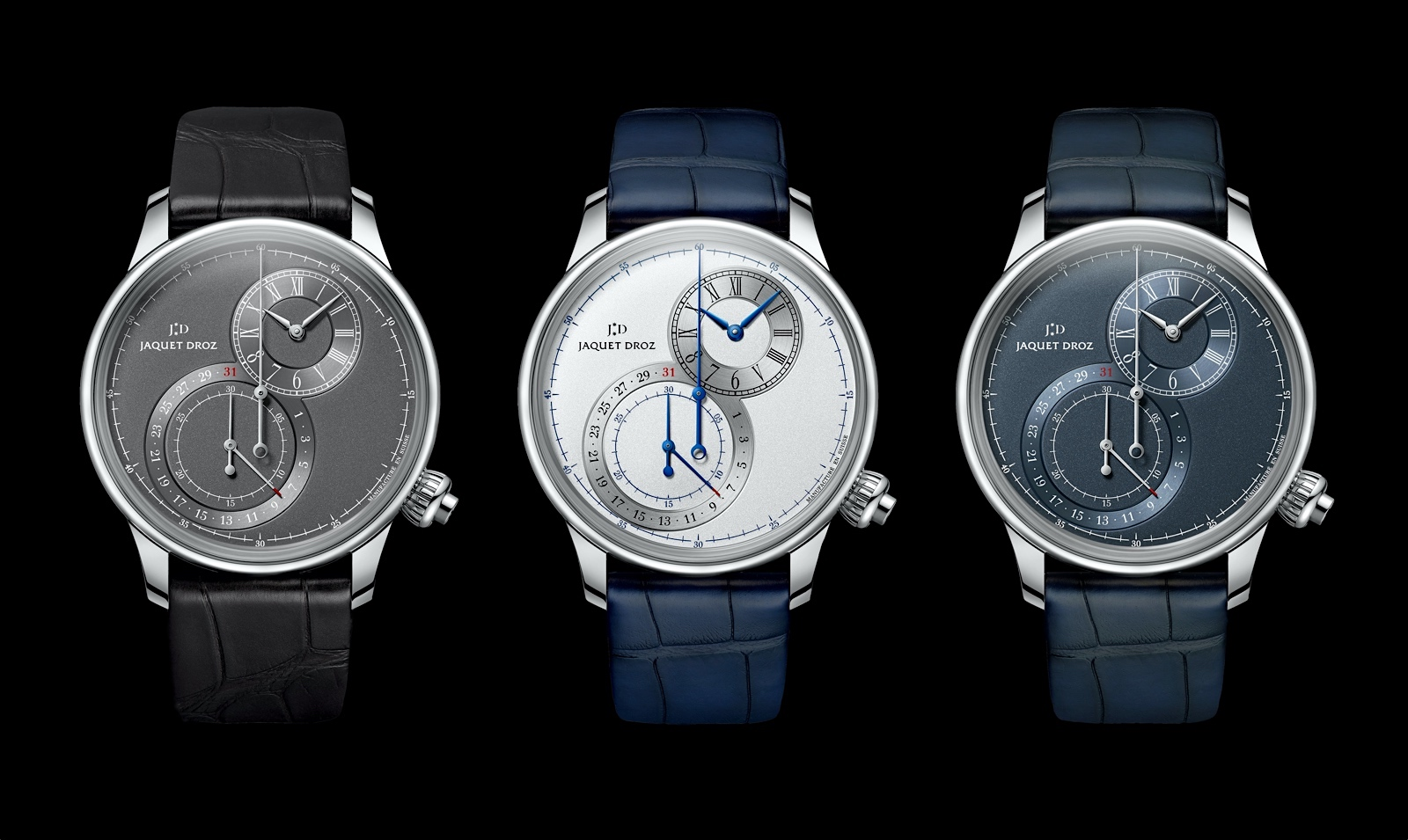 Jaquet Droz Grande Seconde Chronograph - trio steel FB