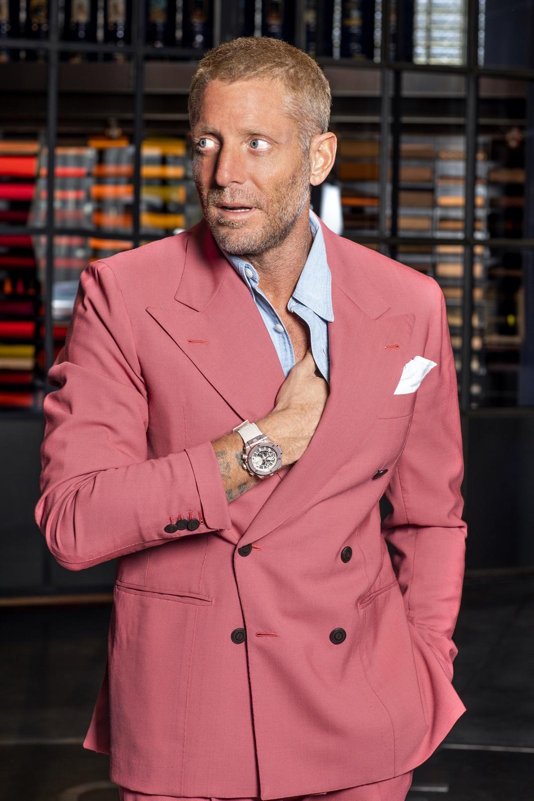 Lapo Elkann - Founder & Creative Chairman of Garage Italia - wearing the Big Bang Millennial Pink (2)
