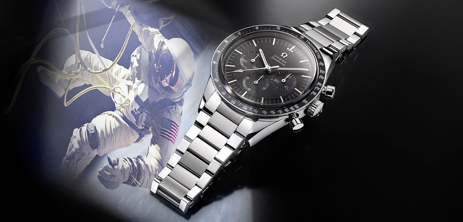 Omega Speedmaster Moonwatch 321 Stainless Steel launch Cover